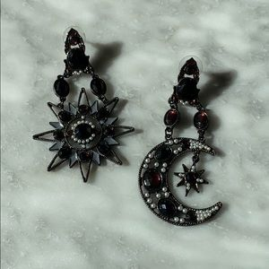 Jewelry - Dark Gothic Celestial Statement Earrings